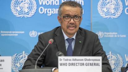 Tedros Adhanom Grebheyesus, director mundial de la OMS.