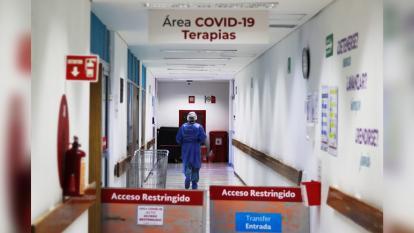 Área de terapias para pacientes con Covid-19 en un hospital de México.