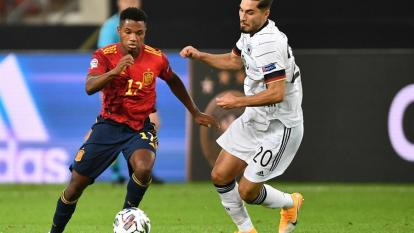 Ansu Fati debutó oficialmente con la Selección Absoluta de España.