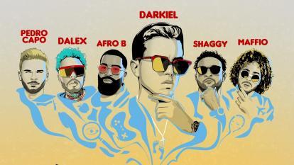 Darkiel reúne a estrellas de la música en remix de 'Me siento bien'