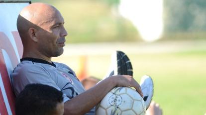 Ricardo Ciciliano cuando jugaba en el desaparecido Uniautónoma FC.