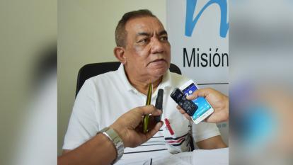José Aguilera, presidente de la Mesa Sucreña por la Paz.