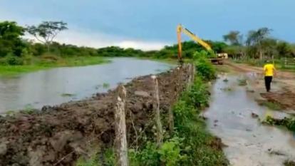 Se salió el caño El Salao e inundó el área rural de Remolino, Magdalena