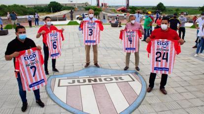 Víctor Pacheco, Jorge Bolaño, Dulio Miranda, Gabriel Berdugo y Martín Arzuaga en la Ventana de Campeones.
