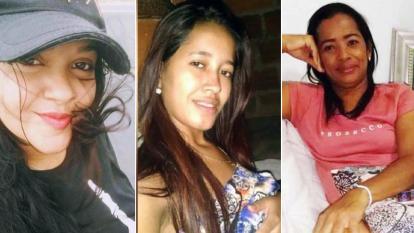 María Alvarado, asesinada en Malambo. Katiuska Rangel, asesinada en Barranquilla. Madeleine Montes, asesinada en Baranoa.