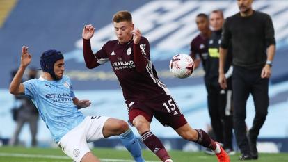 Manchester City no pudo contener el ataque del Leicester.
