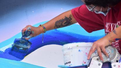 Los artistas de Killart se toman el Malecón y el Aeropuerto