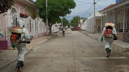Avanzan en la fumigación contra el dengue en Ciénaga, Magdalena