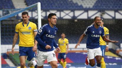 En video | Los goles de Yerry Mina y James Rodríguez en el triunfo de Everton