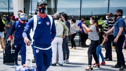 Ditta llegó ayer a Barranquilla, junto al grupo, luego del empate ante Nacional.