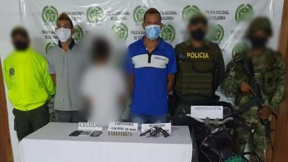 Capturan a presuntos sicarios de 'los Caparros' en Montelíbano