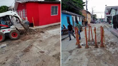 Reparan fuga de agua en el barrio Buenos Aires
