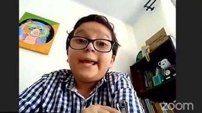 Francisco Vera, de 11 años, pidió privilegiar la vida.