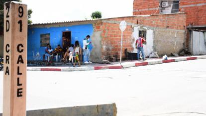 Lugar del barrio San Luis donde fue el atraco en el cual resultó herida la menor.