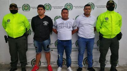 Detienen a tres hombres por extorsión en el centro histórico de Santa Marta