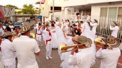 Las bandas alegran en Sincelejo en medio de la pandemia de la Covid-19