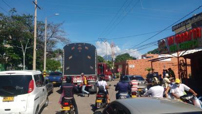 Restringen circulación de vehículos de carga pesada en Valledupar