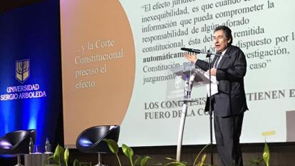 El exfiscal Néstor H. Martínez, el miércoles en el debate sobre el caso Gómez.