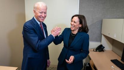 El presidente electo de EE. UU. Joe Biden y la vicepresidente, Kamala Harris.Washington.