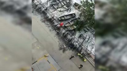 En video | El mar se salió en el sur de El Rodadero y corrió por la calle