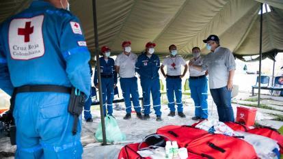Instalan hospital de campaña en Providencia