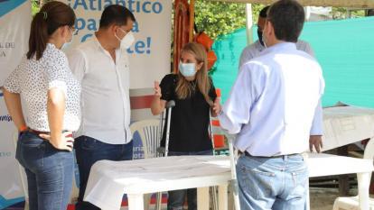 La gobernadora Noguera explica los avances del proyecto.