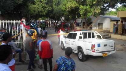 Barrio Luis Eduardo Cuellar de Riohacha, donde se produjo el crimen del comerciante.