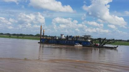 101 mil metros cúbicos de sedimento han removido en dragado en Salamina