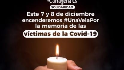 Cartagena enciende una vela en memoria de fallecidos de Covid-19