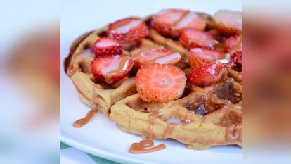 Waffle de Avena, un postre saludable