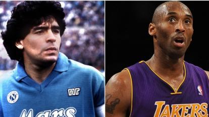 Diego Maradona y Kobe Bryant, pérdidas galácticas