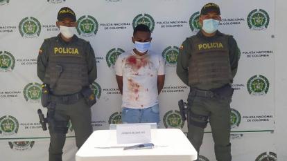 Marlon Enrique Lara Pacheco fue capturado por la Policía después del hecho.