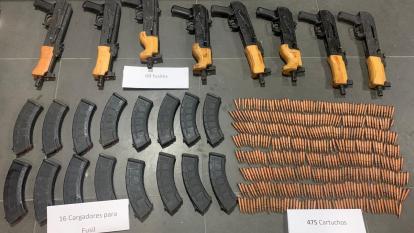 Decomisan modernos fusiles en operativo hecho en la Alta Guajira