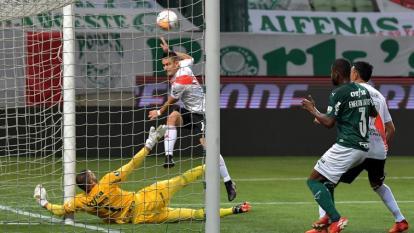 Palmeiras 0, River 2: la hazaña pegó en el palo