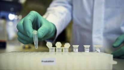 Personal médico manipula unas vacunas.