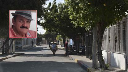Lugar donde ocurrió el ataque a bala que dejó sin vida al comerciante Arnulfo Gómez Gómez (foto).