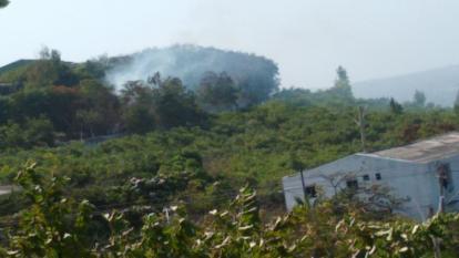 Así luce el humo de las quemas presentadas en este sector del barrio Las Estrellas.