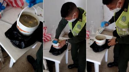 En un recipiente con sopa intentan ingresar celulares a carceleta de Galapa