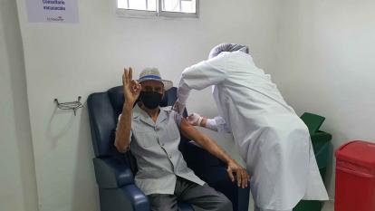 En el hospital de Riohacha fueron vacunados 218 adultos mayores de 80 años