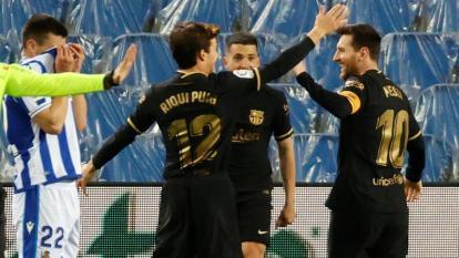Real Sociedad 1, Barcelona 6: gana, gusta, golea y sigue cerca del liderato