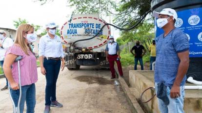 Reanudan abastecimiento de agua potable en carrotanques