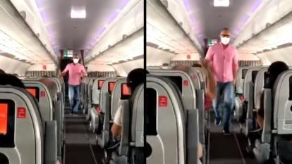 Durante un vuelo, hombre invita a marchar contra reforma tributaria