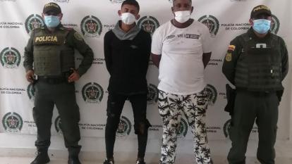 Capturan a dos sujetos con una granada de fragmentación en La Guajira