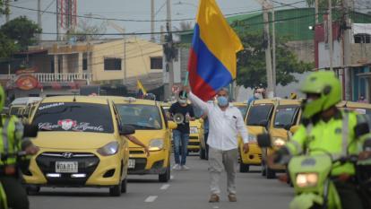 Taxistas en Barranquilla se irán a paro este lunes 3 de mayo
