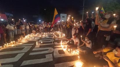 Camarones, en La Guajira, se unió al paro nacional