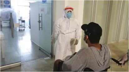 Trasladan pacientes covid de baja complejidad en Valledupar
