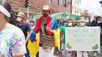 Estudiantes y artistas siguen marchando en Sincelejo