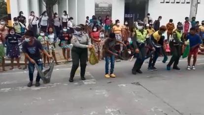 Minga de mujeres se realizó de manera pacífica en Montería