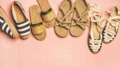 Zapatos en fibras naturales, pasos artesanales de estilo