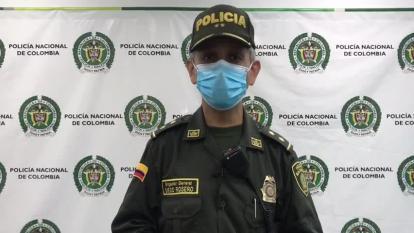 Dispositivo de seguridad de la Policía durante el partido de Junior contra Millonarios